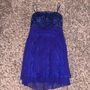 Sue Wong sz  6 sapphire blue beaded cocktail dress
